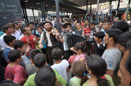 Playing for the refugees