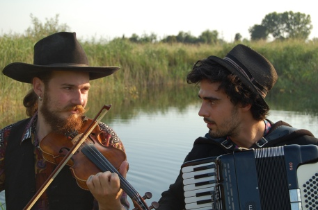 The boys practising in Bordány, Hungary